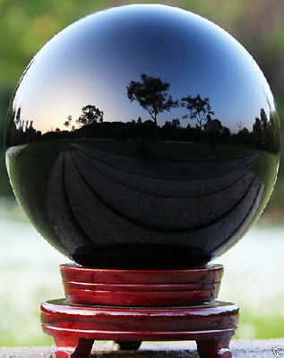 40-200mm Natural Black Obsidian Sphere Large Crystal Ball Healing Stone