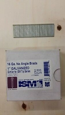 "16 Gauge 1"" Inch Brads Galvanized Brad Nails (30,000) ISM"