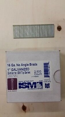 "16 Gauge 1"" Inch Brads Galvanized Brad Nails (2,500) ISM"