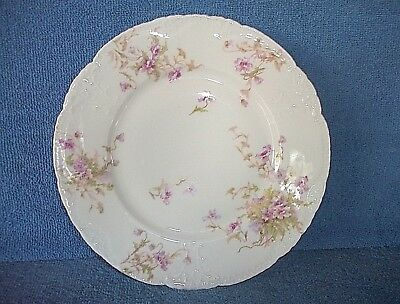 """Theodore Haviland Limoges Schleiger 9 3/4"""" DINNER PLATE   Pink Flowers  8 AVAIL."""