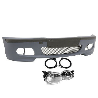 00-06 BMW E46 3-SERIES 2DR M-TECH II STYLE FRONT BUMPER w// CLEAR FOG LIGHTS