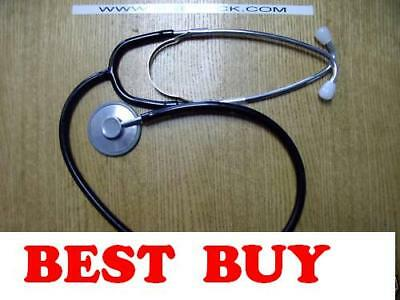 New Single Head Nurse's Stethoscope- Black tubing. New York SELLER   4.25