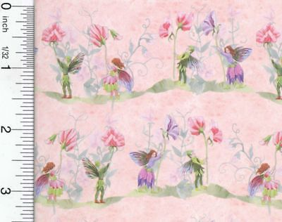 Dollhouse Wallpaper Fairies with Sweet Peas