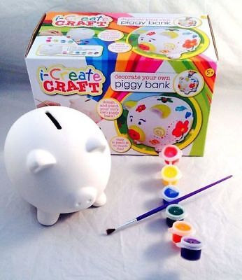 Craft PIGGY Bank Coin Money Cash Collectible Ceramic Savings Pig Toy Safe Box