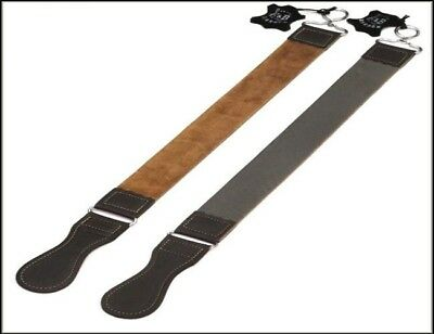 "Professional Barber Leather Strop Razor Sharpening Shaving Strap 21"" Gray"