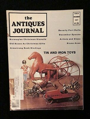 THE ANTIQUES JOURNAL MAGAZINE, December 1977 Christmas Vintage VG