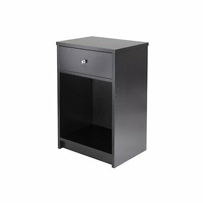 Winsome Squamish 1 Drawer Accent Table -, Black