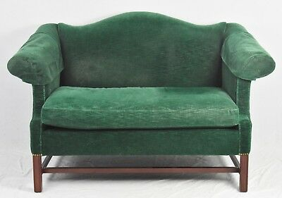 HICKORY CHAIR CHIPPENDALE STYLE SOFA/SETTEE Mohair Upholstery Williamsburg Style