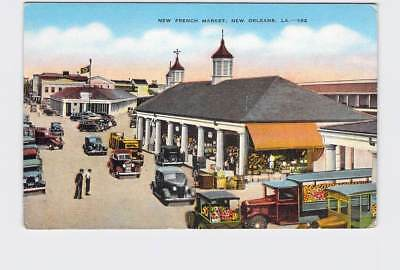 Vintage Postcard Louisiana New Orleans New French Market Birds Eye View