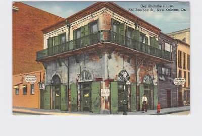 Vintage Postcard Louisiana New Orleans Old Absinthe House Exterior Street View