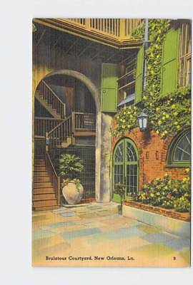 Vintage Postcard Louisiana New Orleans Brulatour Courtyard On Old Royal Street #