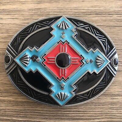 Indian Belt Buckle Native American Style Bear Claw Turquoise western turquoise