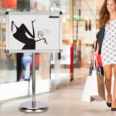 A4 Snap Frame Menu Affichage signe Titulaire Floor Stand+Premium Weighted Base