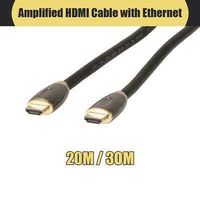 20m / 30m Amplified HDMI Cable with Ethernet