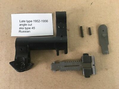 Sks sight front Block plus Rear sight 1952 to 56 angle cut russian type 45