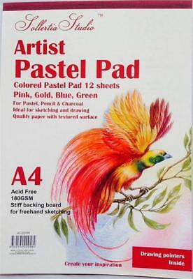 Pastel Pad A4 180GSM 4 Colours Sketch Artist Drawing Sketching Textured Surface