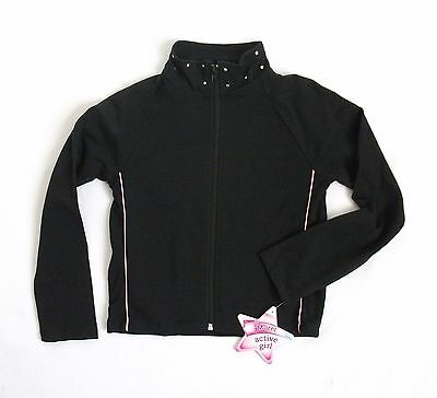 Moret Dance Jacket Girls XS 4 5 M 8 10 or L 12 14 Black/Pink Zip