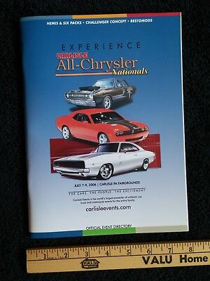 Carlisle All-Chrysler Nationals Show Program 2006, Dodge Mopar Plymouth Souvenir
