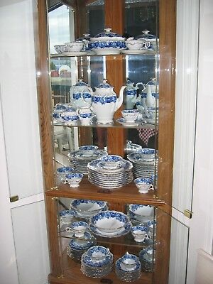 Schumann Bavaria Fine China Heirloom Blue 50 pieces: 8 - 5 pc settings + serving