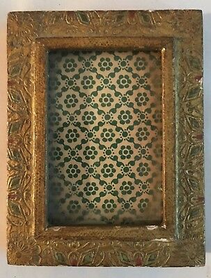 Florentine Double Photo Picture Frame Wood Gesso Italy Italian Gold