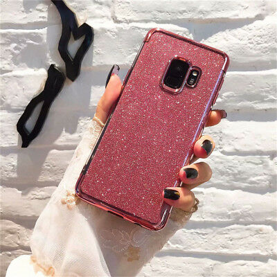 Bling Shockproof Glossy Glitter Case Cover For Samsung Galaxy Note 9 S8 S9 Plus
