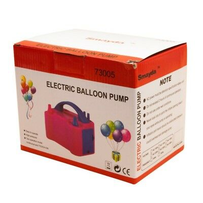 220V Electric Air Balloon Pump Portable Dual Nozzle Inflator/Blower for Party UK