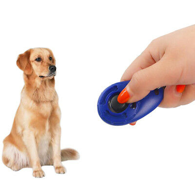 Dog Clicker Adjustable Key Ring Wrist Strap Pet Training Product Obedience Cat