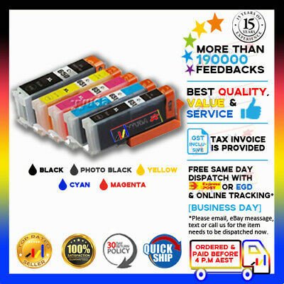 15 pcs PGI650XL CLI651XL Generic Ink fits on Canon MG6460 MG7160 Printers w CHIP