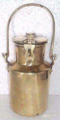 Rare Old Brass Handcrafted Hand Forged Unique Shape Fill Pot / Bharni Pot