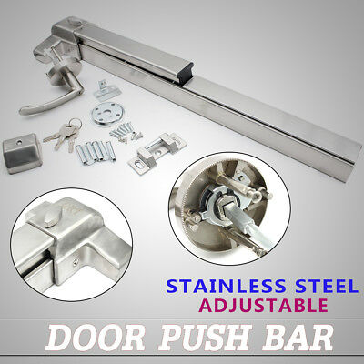 Door Push Bar-Panic Exit Device Lock With Handle Emergency Hardware Fast Safe US