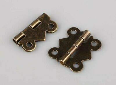 20pcs DIY Repair Bronze Decorative Mini Butterfly Hinges S Size For Cabinet Box