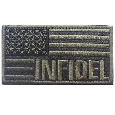 Usa Flag Us Infidel Flag U.s. Army 3D Embroidery Morale Badge Tactical Patch -04