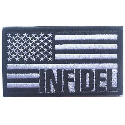 Usa Flag Us Infidel Flag U.s. Army 3D Embroidery Morale Badge Tactical Patch -02