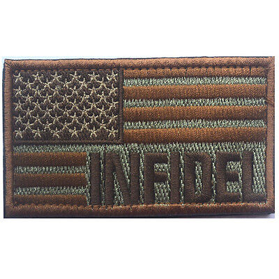 Usa Flag Us Infidel Flag U.s. Army 3D Embroidery Morale Badge Tactical Patch -06