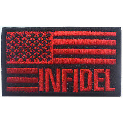 Usa Flag Us Infidel Flag U.s. Army 3D Embroidery Morale Badge Tactical Patch -03
