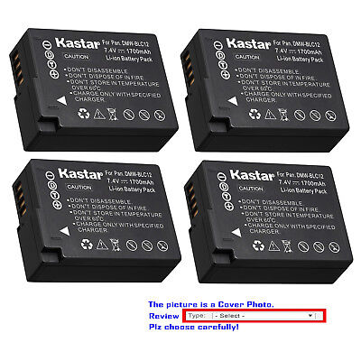 Kastar Replacement Battery for Panasonic DMW-BLC12 & Panasonic Lumix DMC-FZ1000