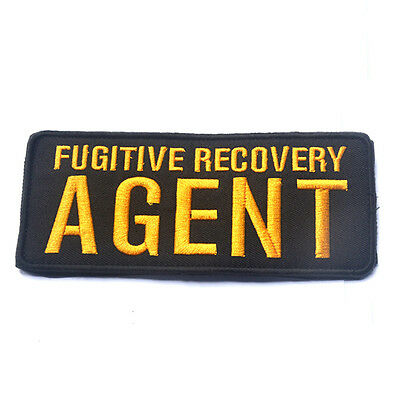 Fugitive Recovery Agent 3D Tactical Morale Badge Embroidered Hook Loop Patch *01