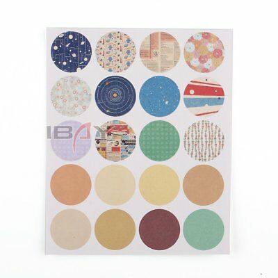 160 X Beautiful Waterproof Round Stickers Essential Oil Bottle Stickers Labels