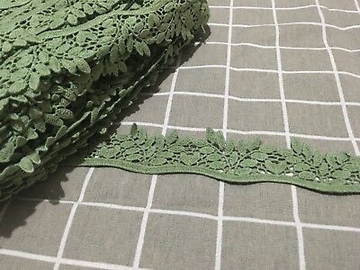 4cm Grass Leaves Shaped ribbon Lace Craft Doll trim Dress Per Meter Sewing