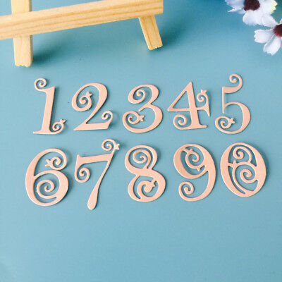 Circle Lace Numbers Metal Cutting Dies Stencil Scrapbooking Embossing Craft Art