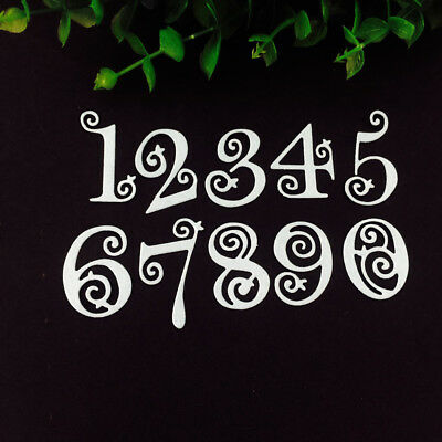 Circle Lace Numbers Metal Cutting Dies Stencil Scrapbooking Embossing Craft DIY