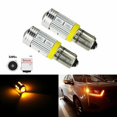 2x Ampoules HY21W BAW9S 10 SMD LED Ambre Indicateur Lampe Orange Citroen Peugeot