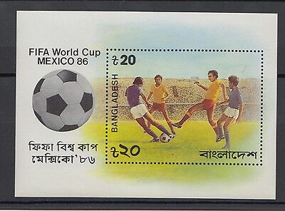 XG-T245 Bangladesch - football, 1986 Mexico '86 world cup MNH sheet