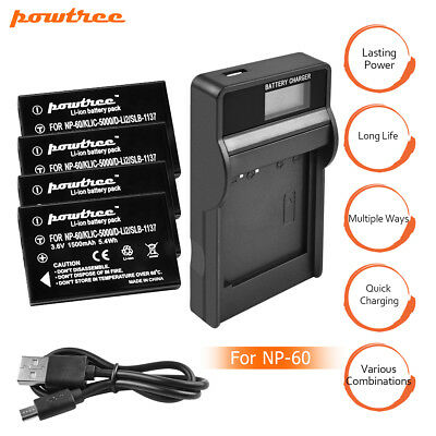 NP-60 Battery or Charger For Fuji NP60 Fujifilm FinePix M603 F601 F410 F401 MP