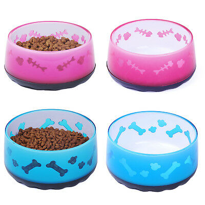 Pet Dog Cat Food Bowls Puppy Bowl Feeder Acrylic Non Slip Kitten Feed Dishes