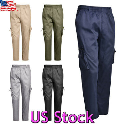 Men's Military Urban Tactical Combat Trousers Casual Cargo Pants Hiking Outdoor