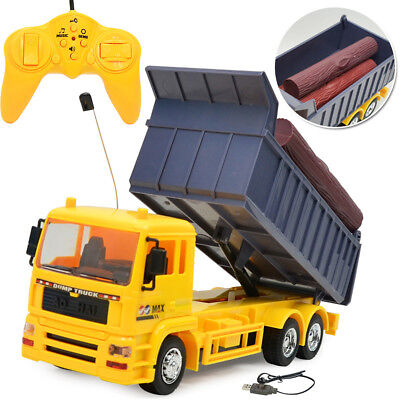 1:24 Scale 8 Channel Dump Truck Toy Vehicle Electric RC Remote Control Cars