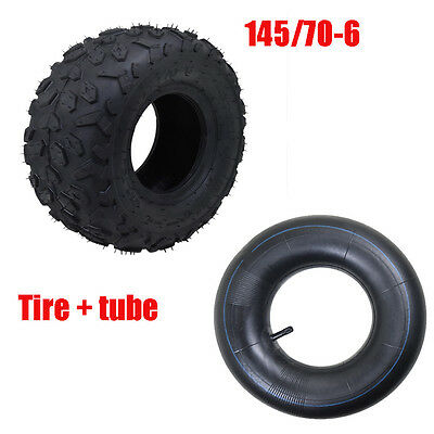 "145/70-6 6"" Front Rear Tyre Tire + Inner Tube 50-110cc Quad mini Bike Buggy ATV"