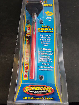 Supercool Car Digital Thermometer A/c Diagnosis Performance Test