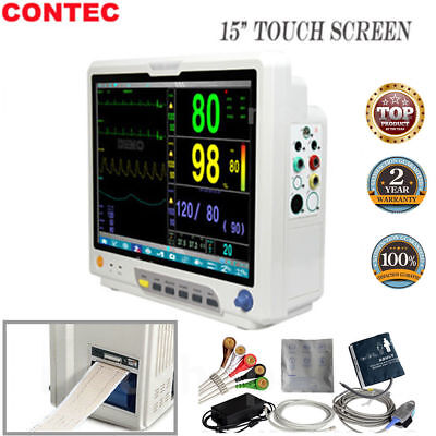 15'' Portable Vital Signs Monitor ICU Patient Monitor Touch Screen 6 parameter